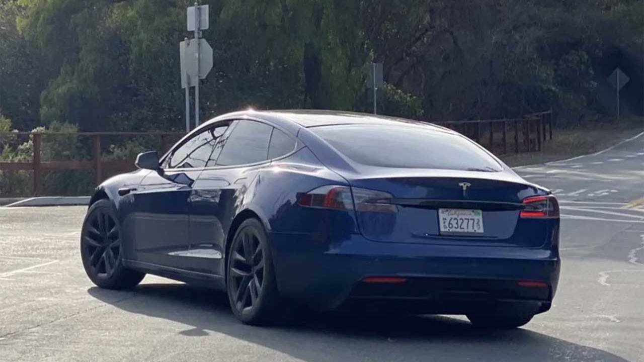 Refreshed Tesla Model S spied cruising California streets