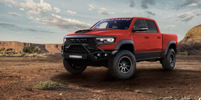 The 2021 Hennessey Mammoth 1000 is a Ram TRX with 1,012 horsepower