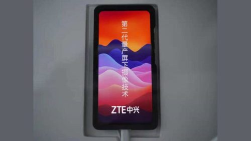 ZTE second-gen under-display camera might not fix its biggest flaw