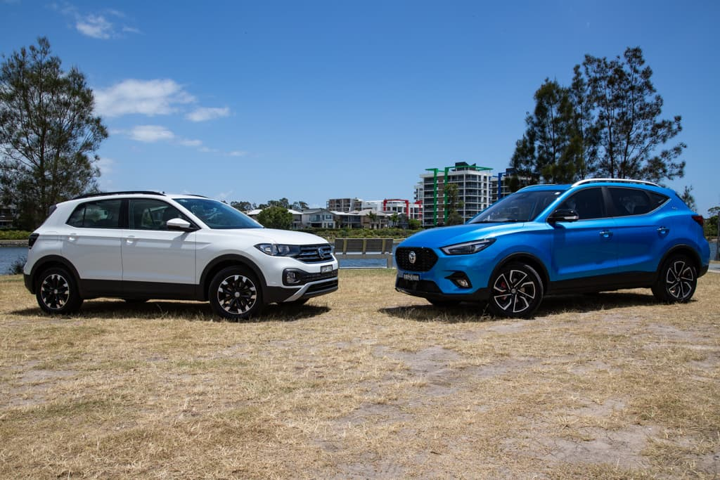 2021 MG ZST Essence v Volkswagen T-Cross 85TSI Life Comparison