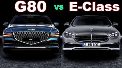 2021 Genesis G80 3.5T v 2021 Mercedes-Benz E300 comparison