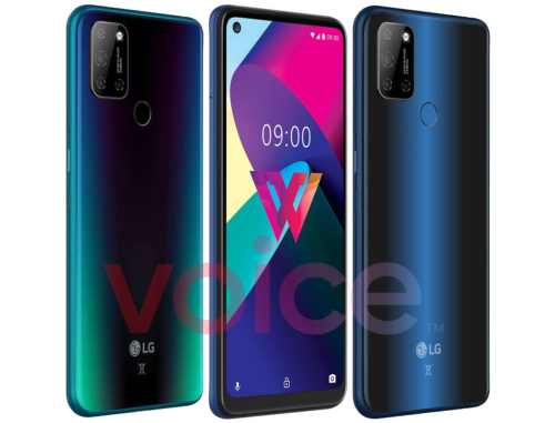 LG W41 appears in a press render with punch hole display and 48MP quad camera