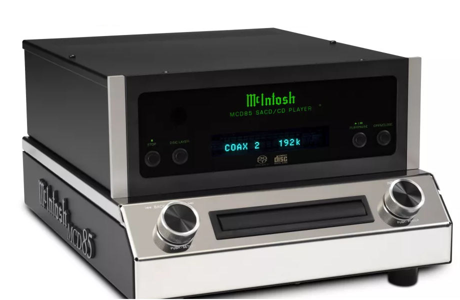 McIntosh's MCD85 SACD/CD player boasts hi-res USB connectivity