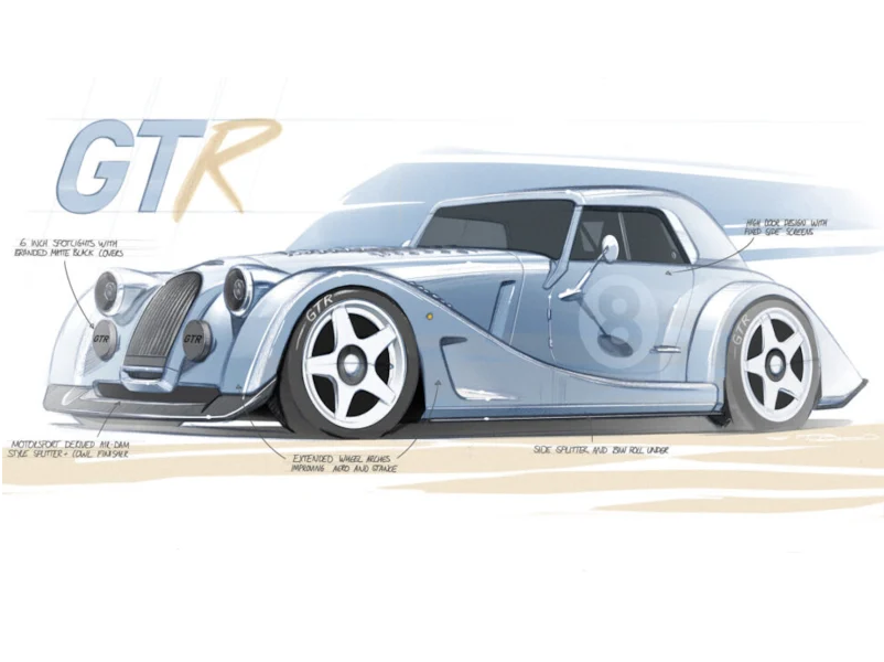 2021 Morgan Plus 8 GTR: British brand teases upcoming track car