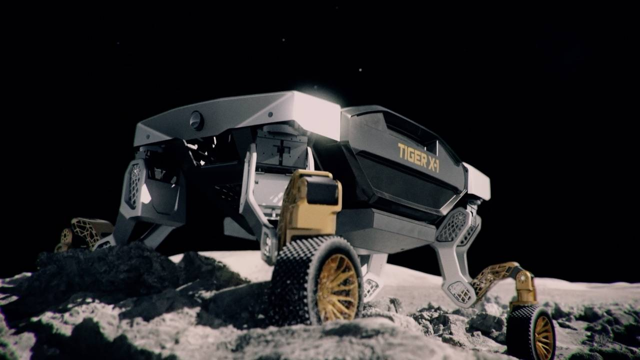 Hyundai TIGER concept vehicle can roll or walk on challenging terrain