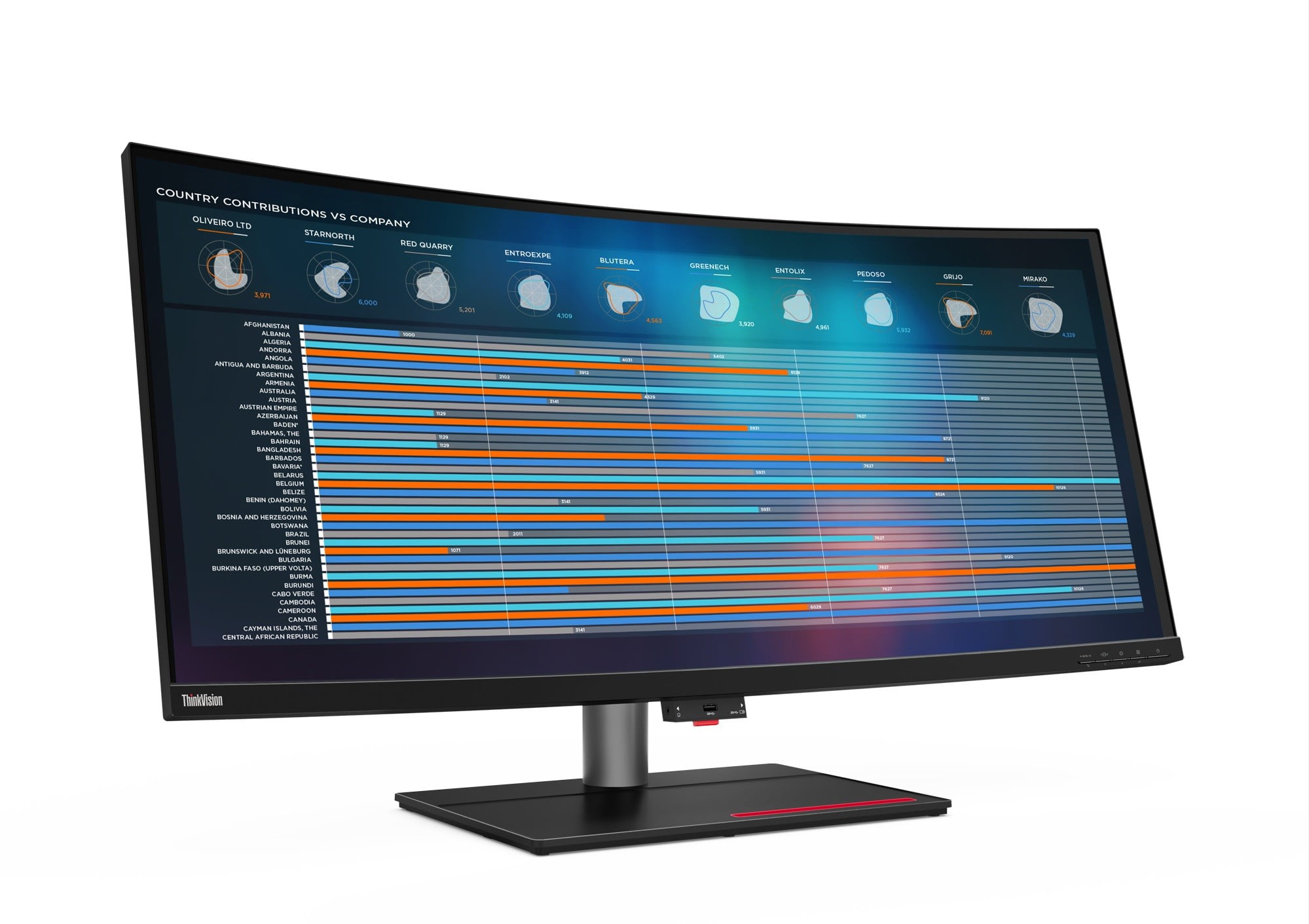 Lenovo's ThinkVision P40w is the world's first Thunderbolt 4 monitor