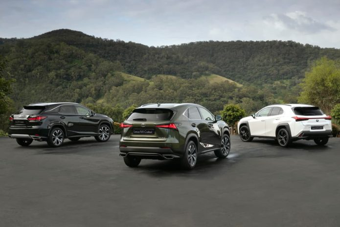 Lexus UX, NX and RX Crafted Editions released