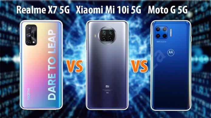 Realme X7 vs Mi 10i vs Moto G 5G: prices in India, specifications, features compared