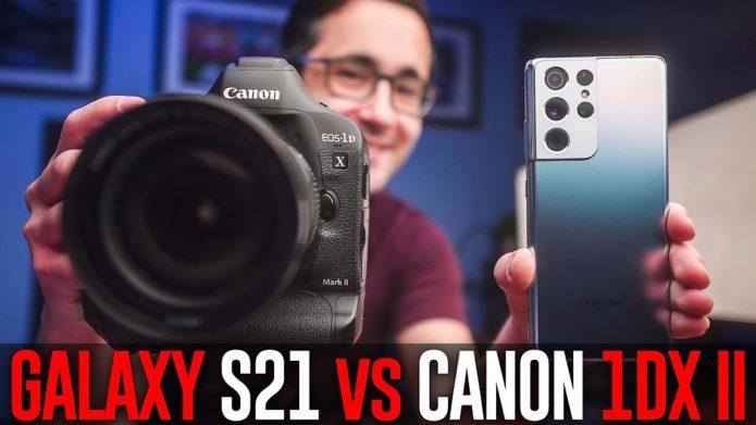 More than megapixels: 108MP Samsung Galaxy S21 Ultra vs. 20.2MP Canon 1DX II