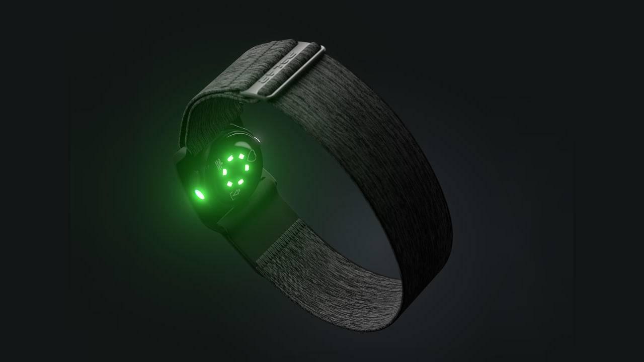 Polar Verity Sense heart monitor strap can be worn anywhere