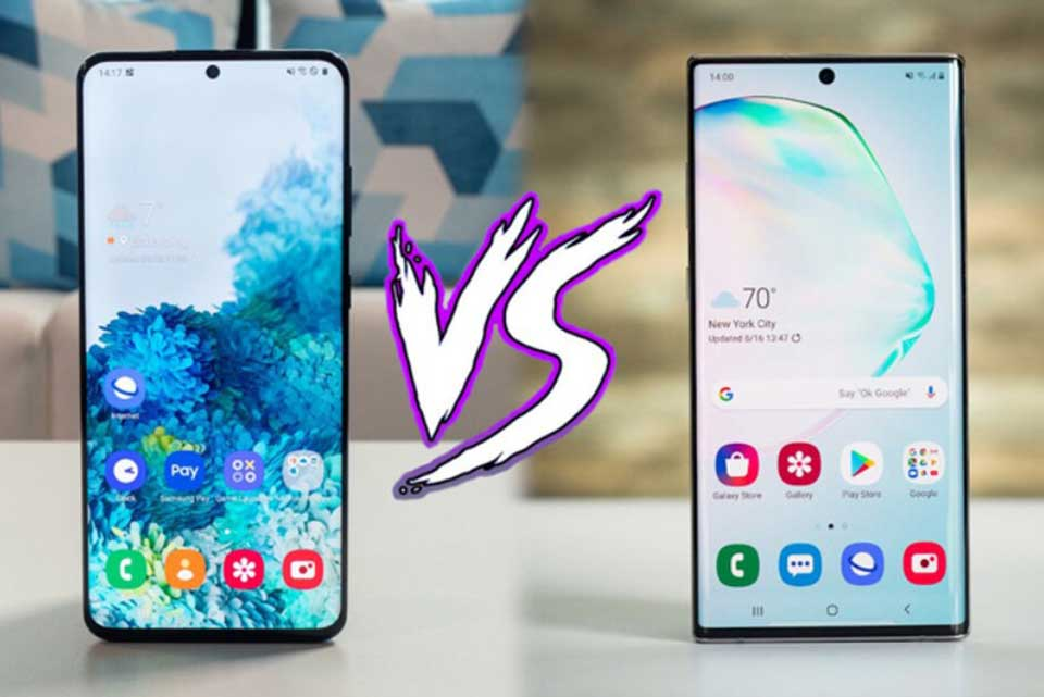 Samsung Galaxy S20 Plus vs. Note 10 Plus