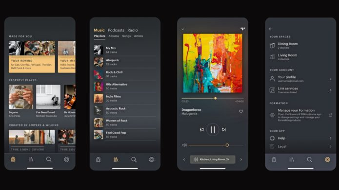 B&W Music App delivers complete music control to Formation multi-room range