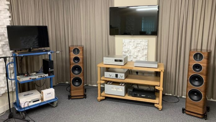 Inside the test rooms: Audiolab, Quad, Wharfedale