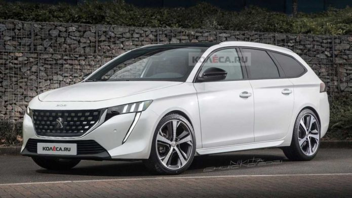 Peugeot 308 Wagon Unofficial Rendering Likely Paints Accurate Picture
