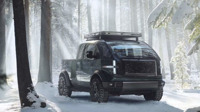 Canoo pickup is an all-electric truck that looks like no other