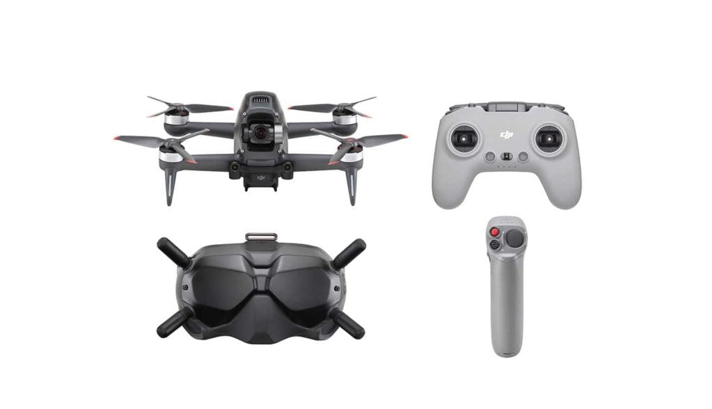 The DJI FPV drone takes you into the skies with its 4K camera and video goggles
