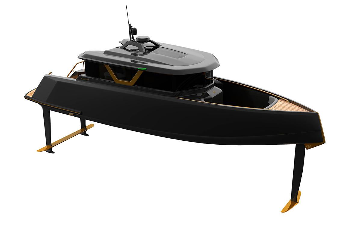 Navier 27 first look: Active foil controlled electric runabout promises 75+nm range at 20kn