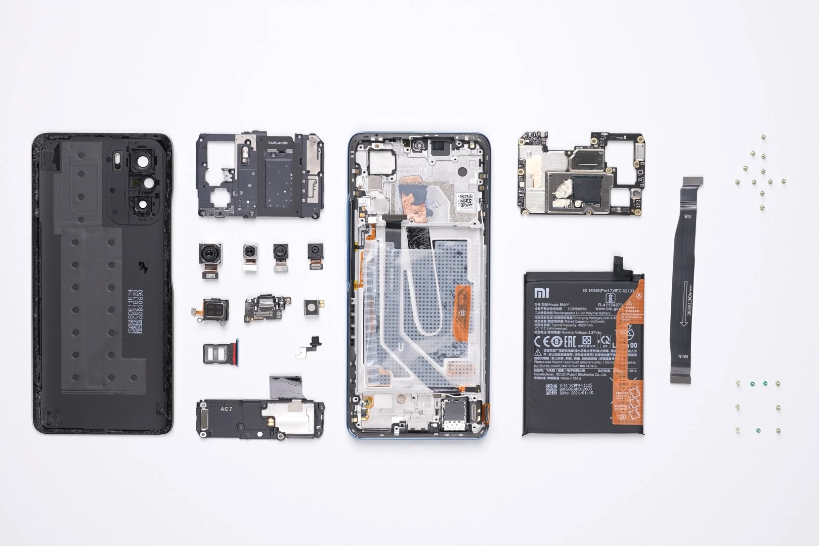 Redmi K40 and Redmi K40 Pro teardown video reveals Xiaomi's LiquidCool Technology heat dissipation solution and modular camera hardware
