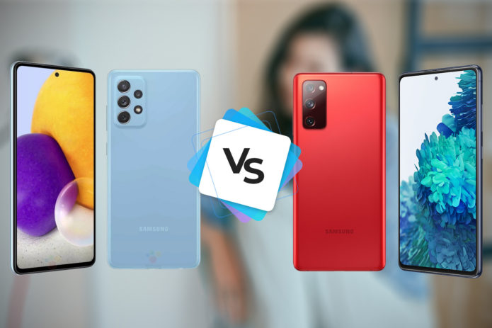 Samsung Galaxy A72 vs Galaxy S20 FE 5G, early value kings comparison