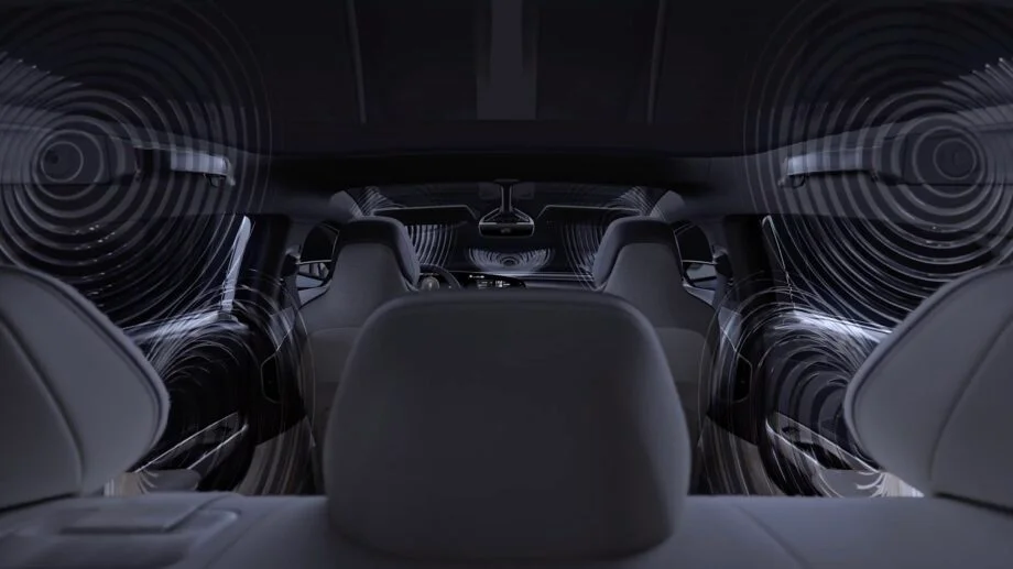 This 21-speaker car audio system from Lucid Motors can play music in Dolby Atmos