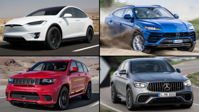 The Quickest SUVs We've Ever Tested