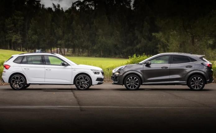 2021 Ford Puma ST-Line V v 2021 Skoda Kamiq Monte Carlo Comparison