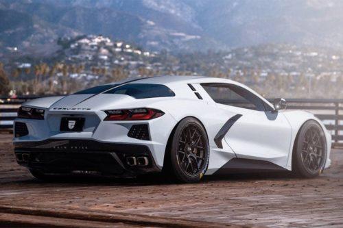 Split-window Chevrolet Corvette imagined