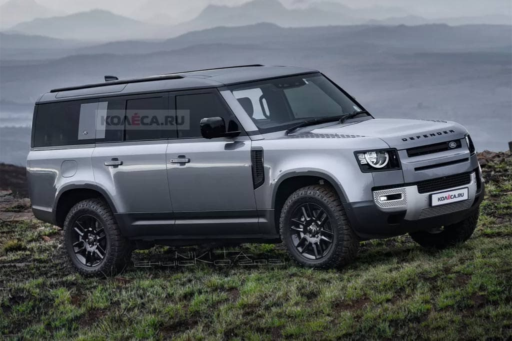 Land Rover Defender 130 takes shape