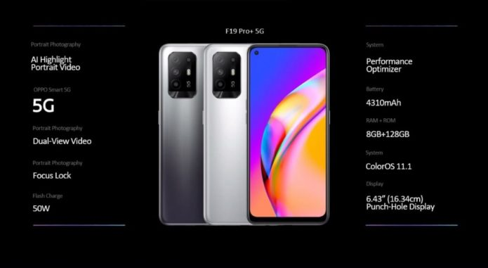 Oppo F19 Pro+ announced with Dimensity 800U chipset and 50W charging