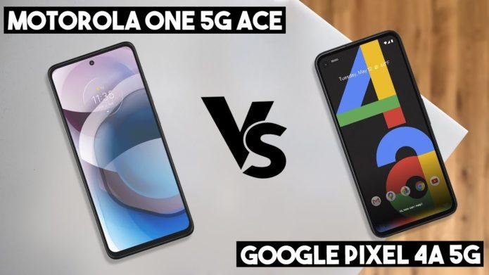 Motorola One 5G Ace vs. Google Pixel 4a 5G