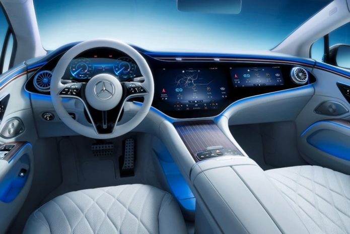 2021 Mercedes EQS limo's cabin unveiled