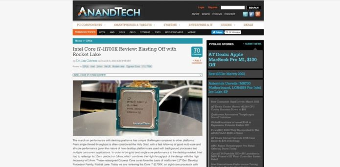 An early review of Intel 11th-gen Rocket Lake gives the chip mixed marks