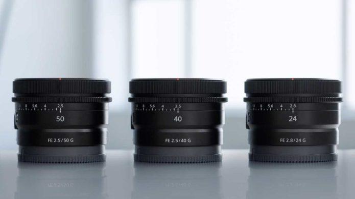 Official : Sony FE 50mm f/2.5 G, FE 40mm f/2.5 G, and FE 24mm f/2.8 G Lenses