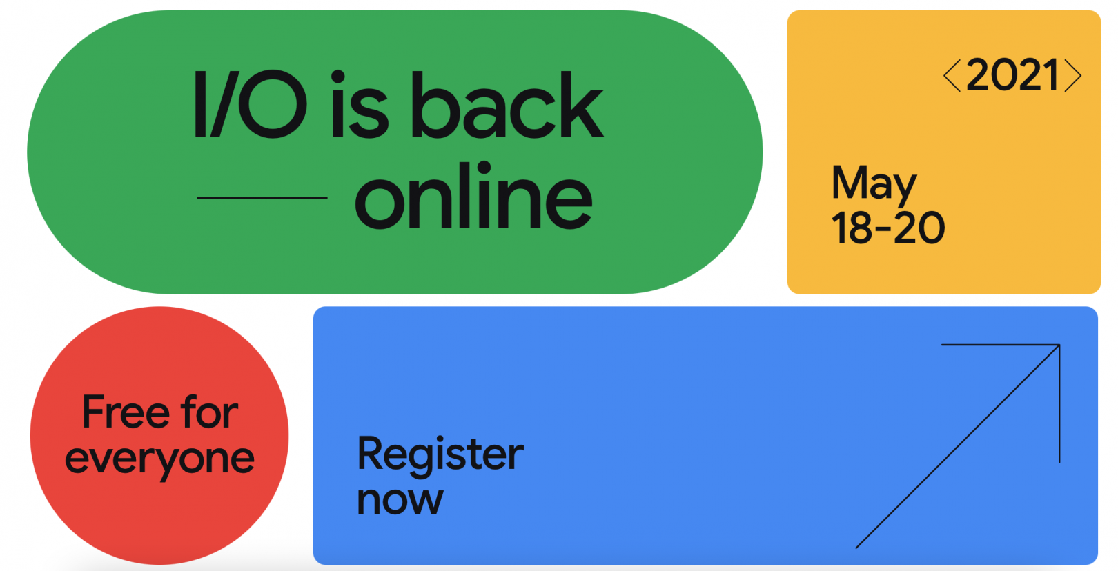 Google I/O 2021 dates confirmed – Android 12, Pixel 5a and more expected