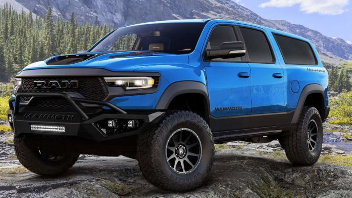 Hennessey turns the RAM TRX pickup into an SUV called the Mammoth 1000