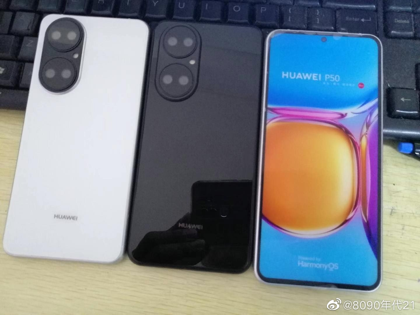 Huawei P50 dummy units appear with unusual camera design and HarmonyOS marketing