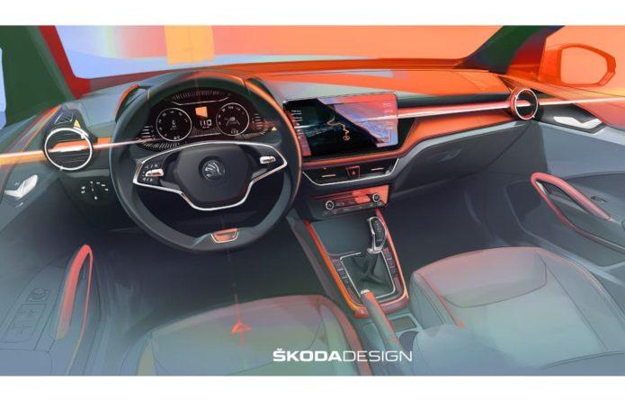 New 2021 Skoda Fabia interior previewed