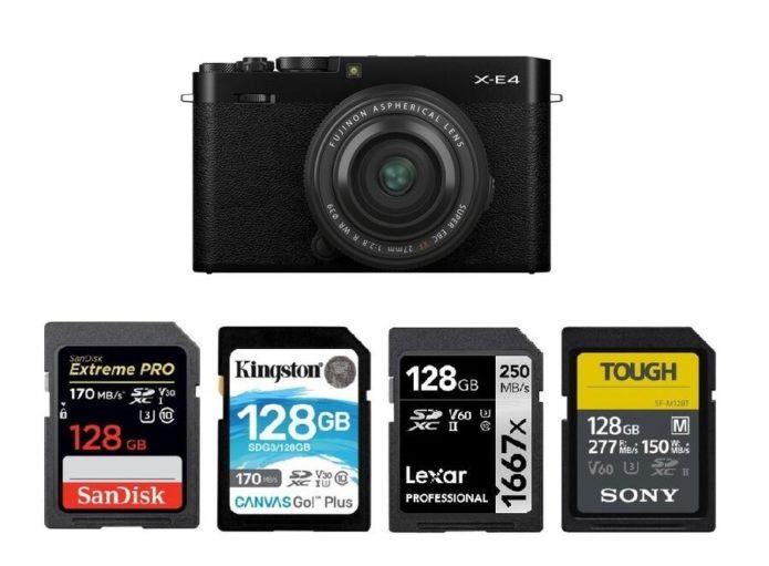 Best Memory Cards for Fujifilm X-E4
