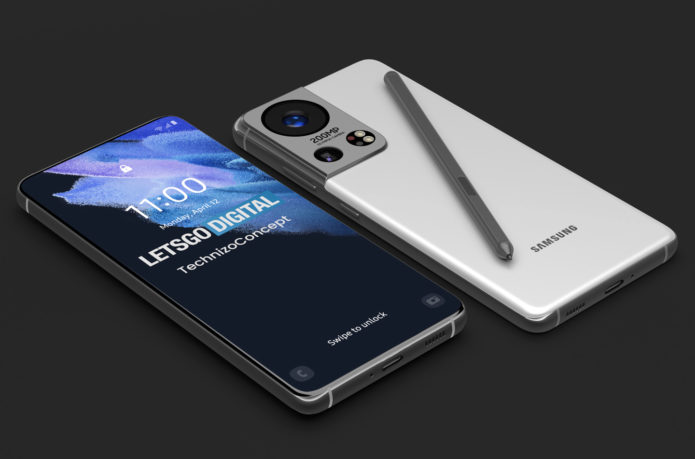 Samsung Galaxy S22 Ultra concept renders showcase new 200MP camera sensor alongside Olympus branding