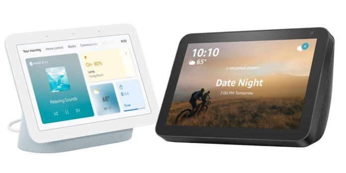 Google Nest Hub (2nd gen) vs. Amazon Echo Show 8: Which midsized smart display is best?