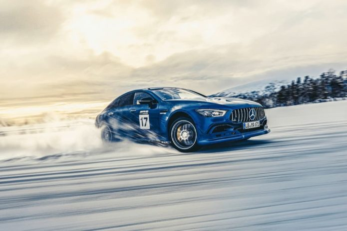 Mercedes-AMG plug-in hybrid self-charges while drifting
