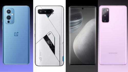 OnePlus 9 vs Vivo X60 vs Samsung Galaxy S20 FE 5G vs ROG Phone 5 comparison: specs, design, features & price