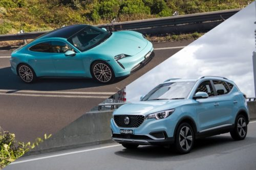Unlikely heroes: Porsche Taycan and MG ZS EV