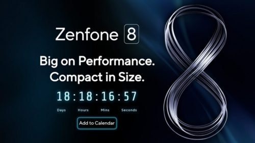 Asus confirms the Zenfone 8 is launching on May 12, with a compact version rumored