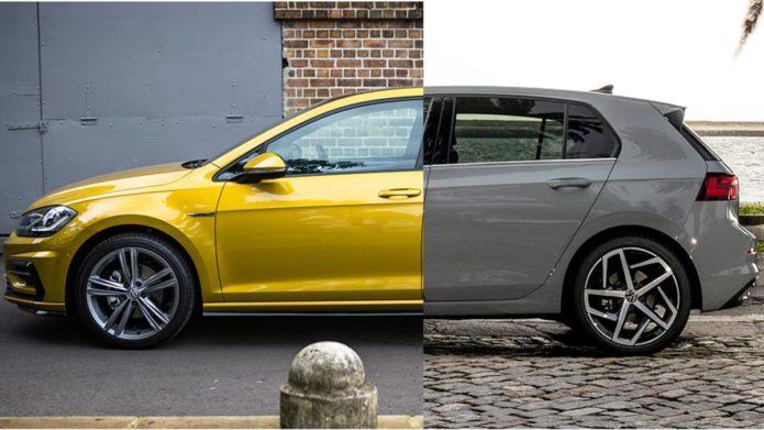 Volkswagen v Volkswagen: the new Golf faces its predecessor.