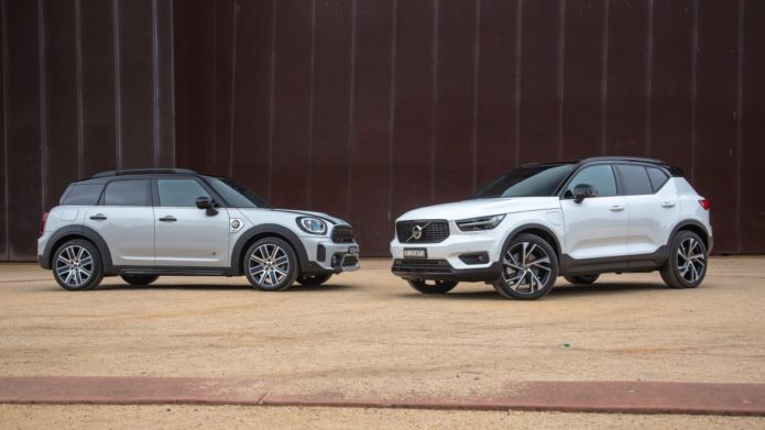 Compact Luxury Plug-in Hybrid SUV comparison: 2021 Mini Cooper Countryman SE Hybrid v 2021 Volvo XC40 Recharge