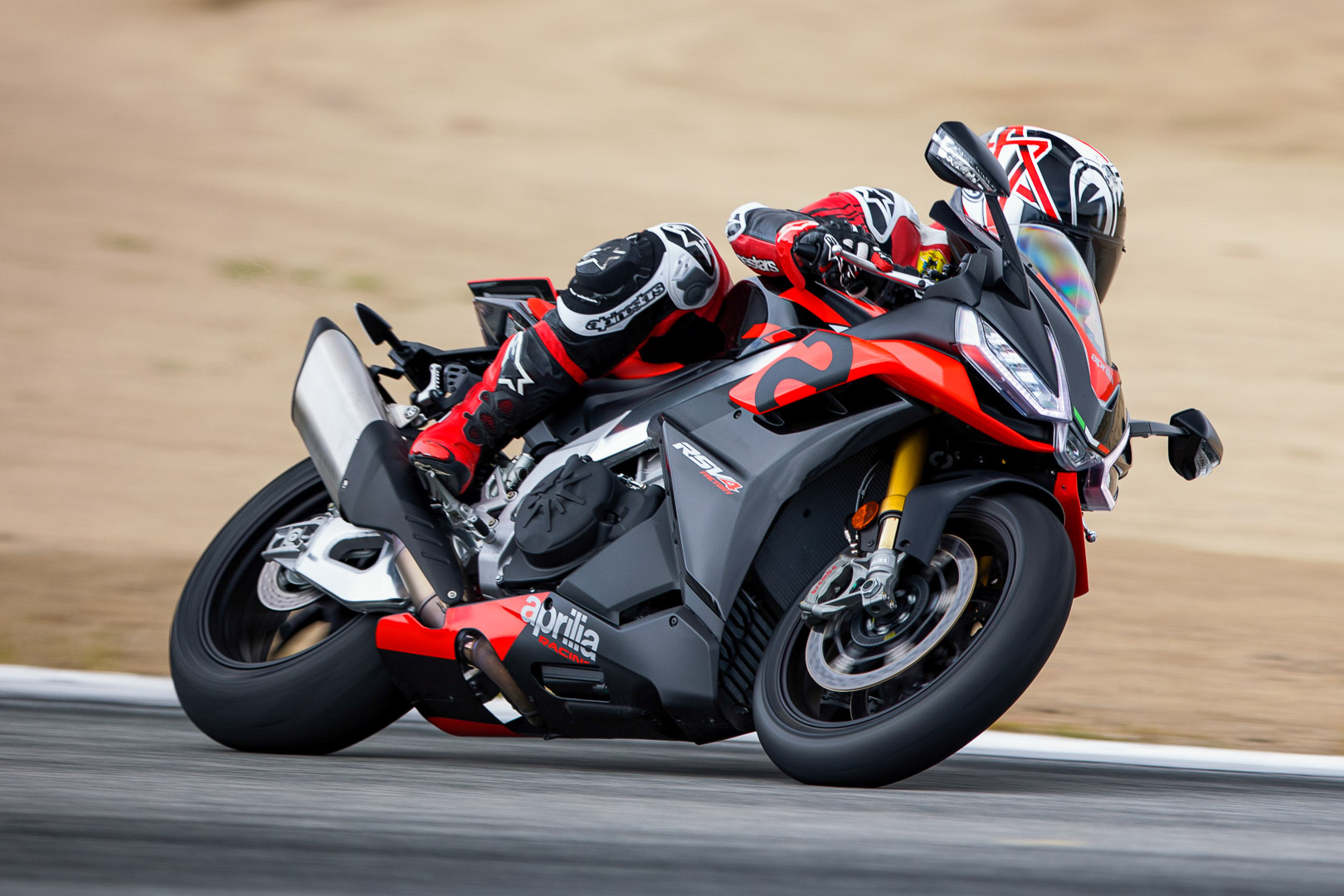 2021 Aprilia RSV4 and RSV4 Factory Track Test at Laguna Seca