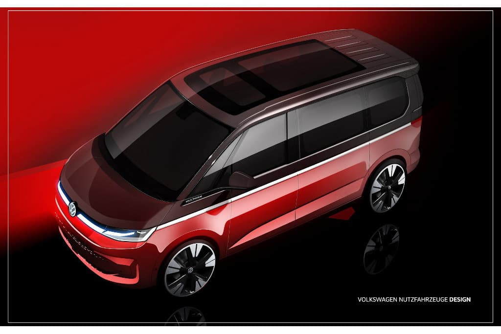 Next-gen Volkswagen T7 Multivan teased again