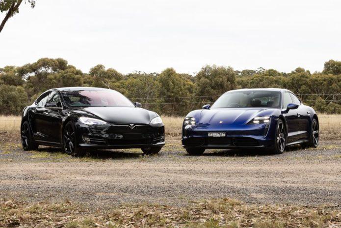 2021 Porsche Taycan Turbo v Tesla Model S P100D Comparison