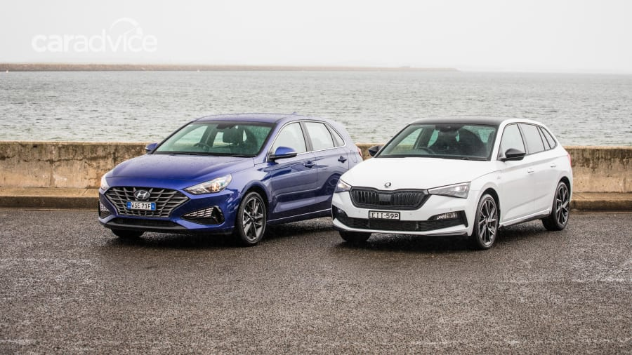 2021 Skoda Scala Monte Carlo v 2021 Hyundai i30 Elite hatch Comparison